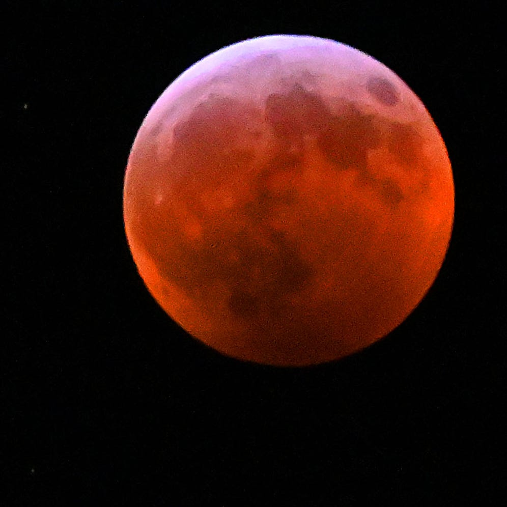 Another image of the blood-red moon.