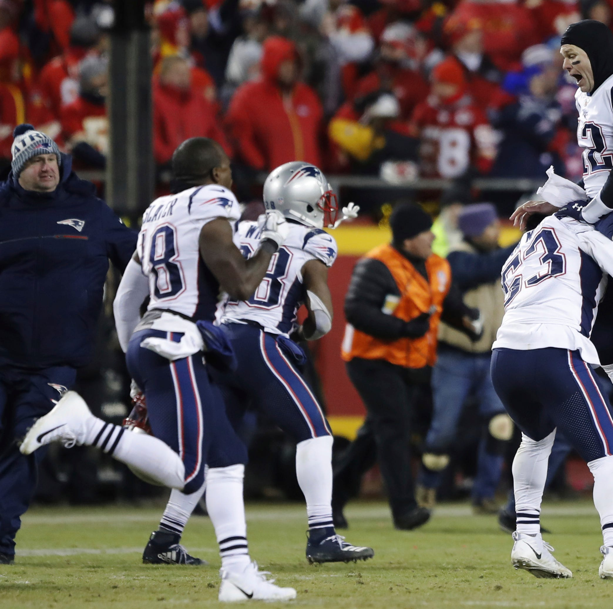 Patriots beat Chiefs in OT, make 3rd straight Super Bowl