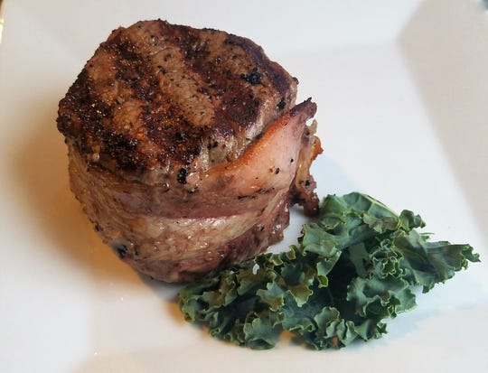 The biggest menu draw at Rookies is the certified Angus steaks, such as this bacon-wrapped filet.