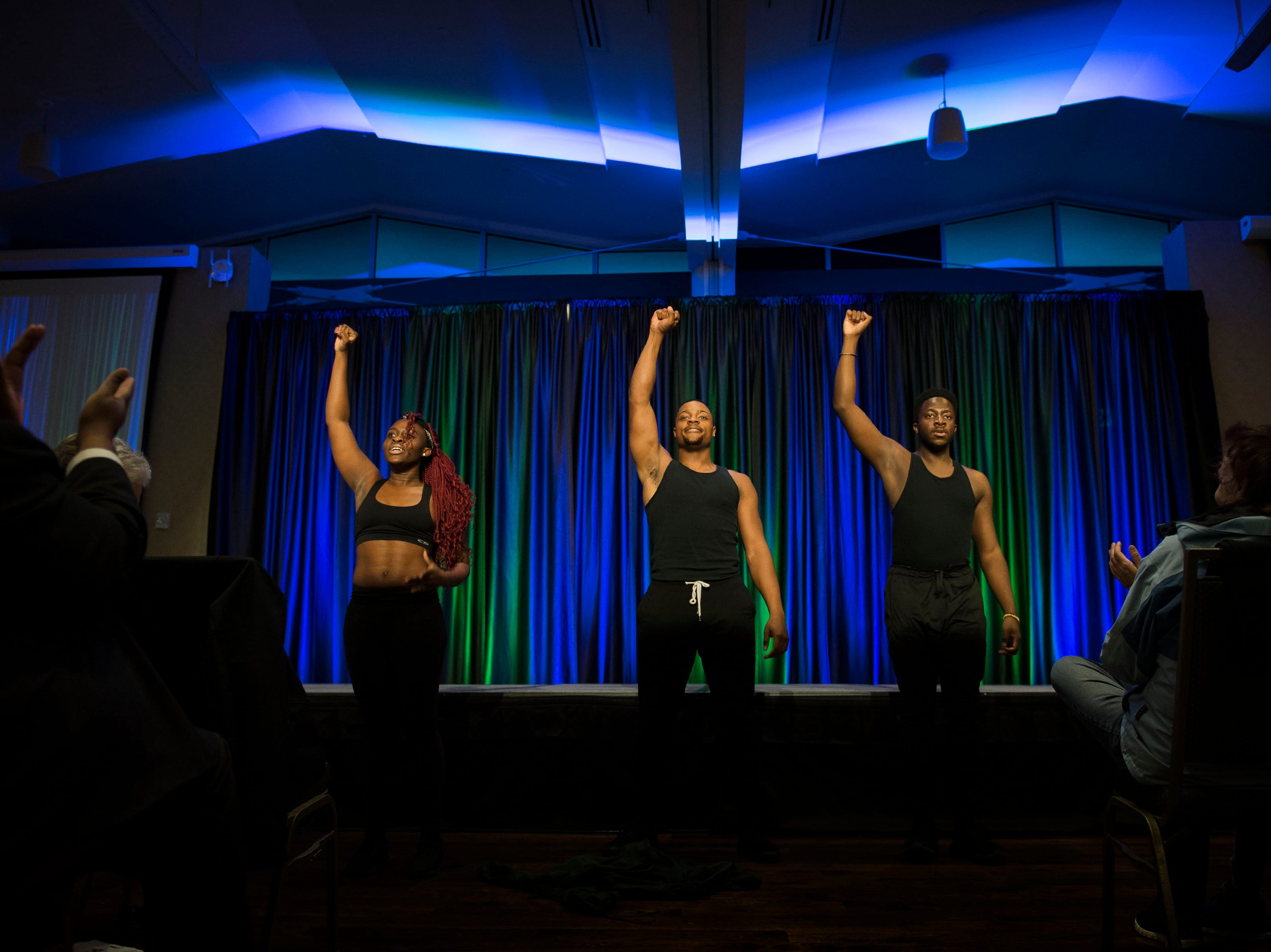 Dancers with the student organization Africans United perform at the Dr. Martin Luther King, Jr. March & Celebration on Monday, Jan. 21, 2019, at the Lory Student Center on the Colorado State University campus in Fort Collins, Colo.