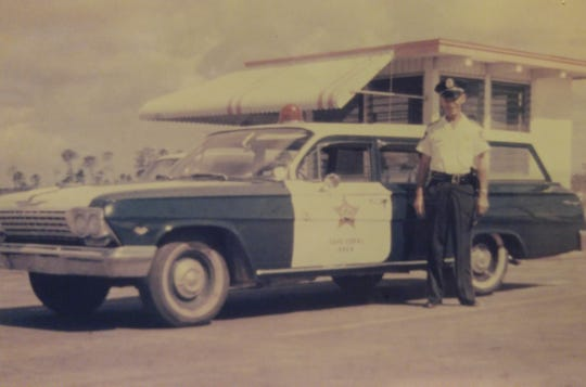 Cape Coral Security Force patrol car #29 in the early days.