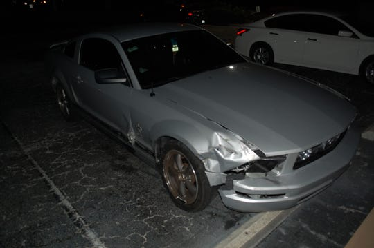 A silver 2006 Mustang that the Florida Highway Patrol was involved in a hit-and-run injury crash on I-75 on Sunday was later found abandoned at an address off of Executive Drive in Naples.  Information on the driver is being sought.