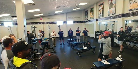 The Minnesota Twins coaching staff spent half a day with 27 Cal Ripken coaches recently.