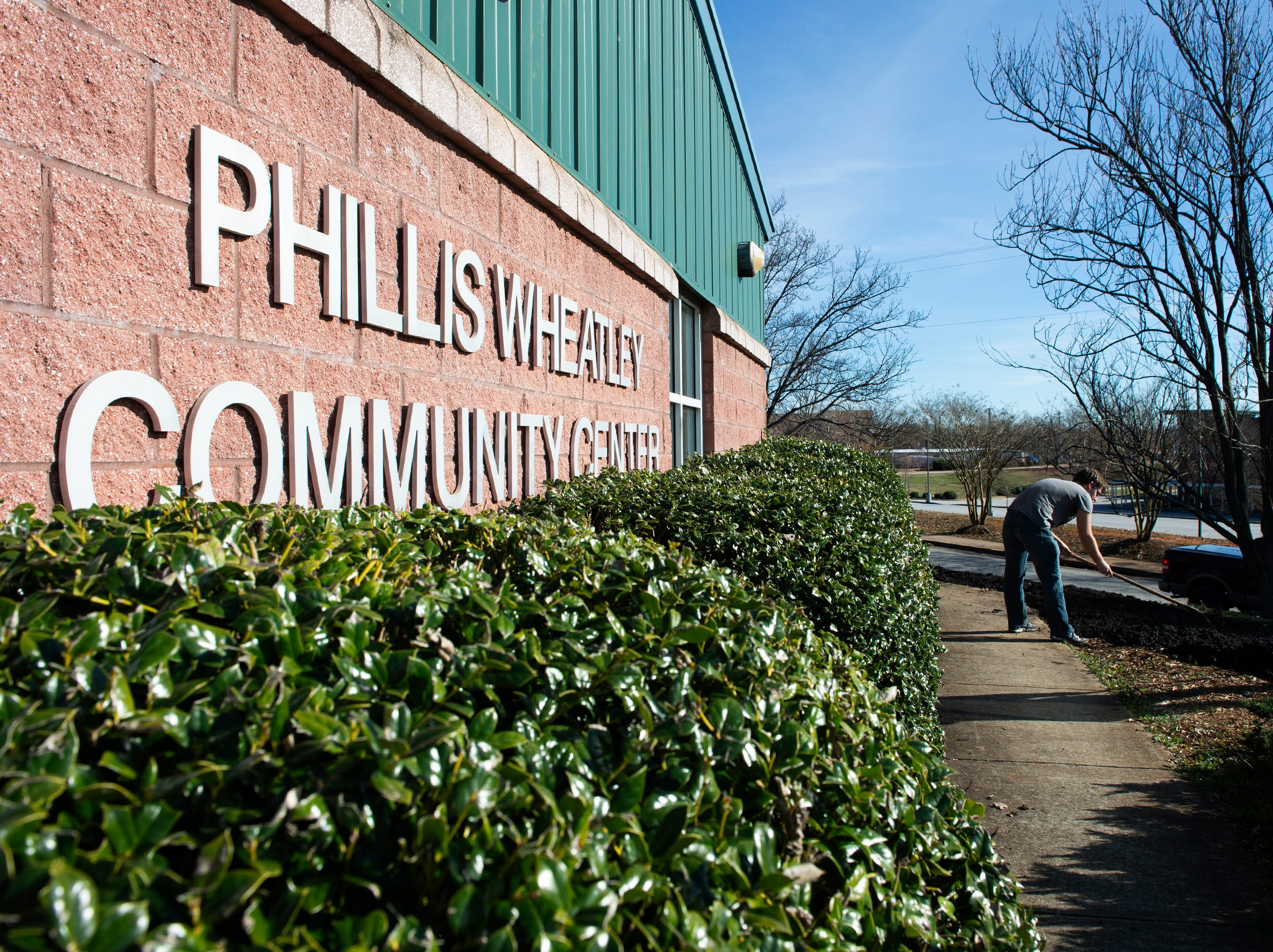 Bob Jones University students volunteer at the Phillis Wheatley Center in Greenville on Martin Luther King, Jr. Day Monday, Jan. 21, 2019.
