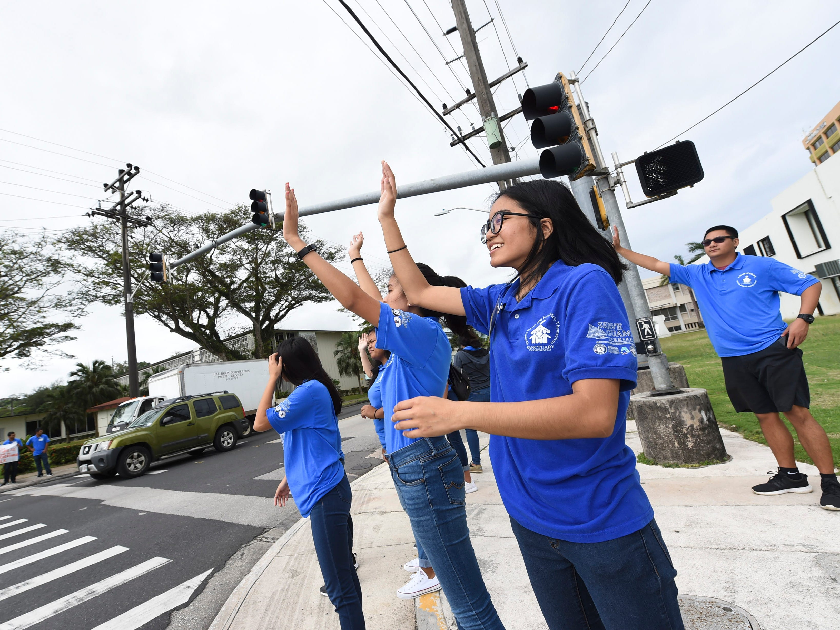 AmeriCorps volunteers participate during the 2019 Martin Luther King Jr. Day of Service wave in Hagåtña, Jan. 21, 2019.