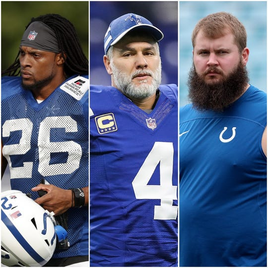 Clayton Geathers, Adam Vinatieri and Mark Glowinski are three of the Colts' notable unrestricted free agents this offseason.