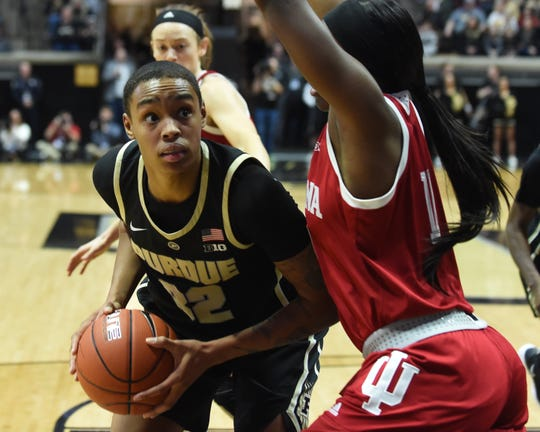 Scenes from a Sunday afternoon nail biter as the Purdue Boilermakers beat the Indiana Hoosiers at Mackey Arena.  Ae'Rianna Harris.