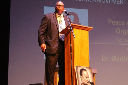 Stan Jefferson —an inductee into the Ohio High School Football Coaches Hall Fame— took the Palace's stage on Monday, during an annual breakfast and presentation honoring the legacy of Martin Luther King Jr.  Jefferson stressed the importance of being able to adjust King's message to the future generations to come.