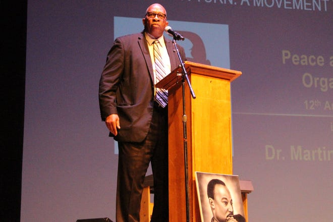 Stan Jefferson —an inductee into the Ohio High School Football Coaches Hall Fame—took the Palace's stage on Monday, during an annual breakfast and presentation honoring the legacy of Martin Luther King Jr.  Jefferson stressed the importance of being able to adjust King'smessage to the future generations to come.