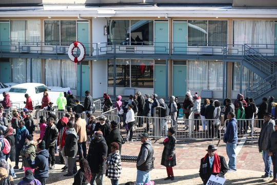 Hundreds gathered at the National Civil Rights Museum on Monday to commemorate the birthday of civil rights leader Martin Luther King Jr., on Jan. 21, 2019.