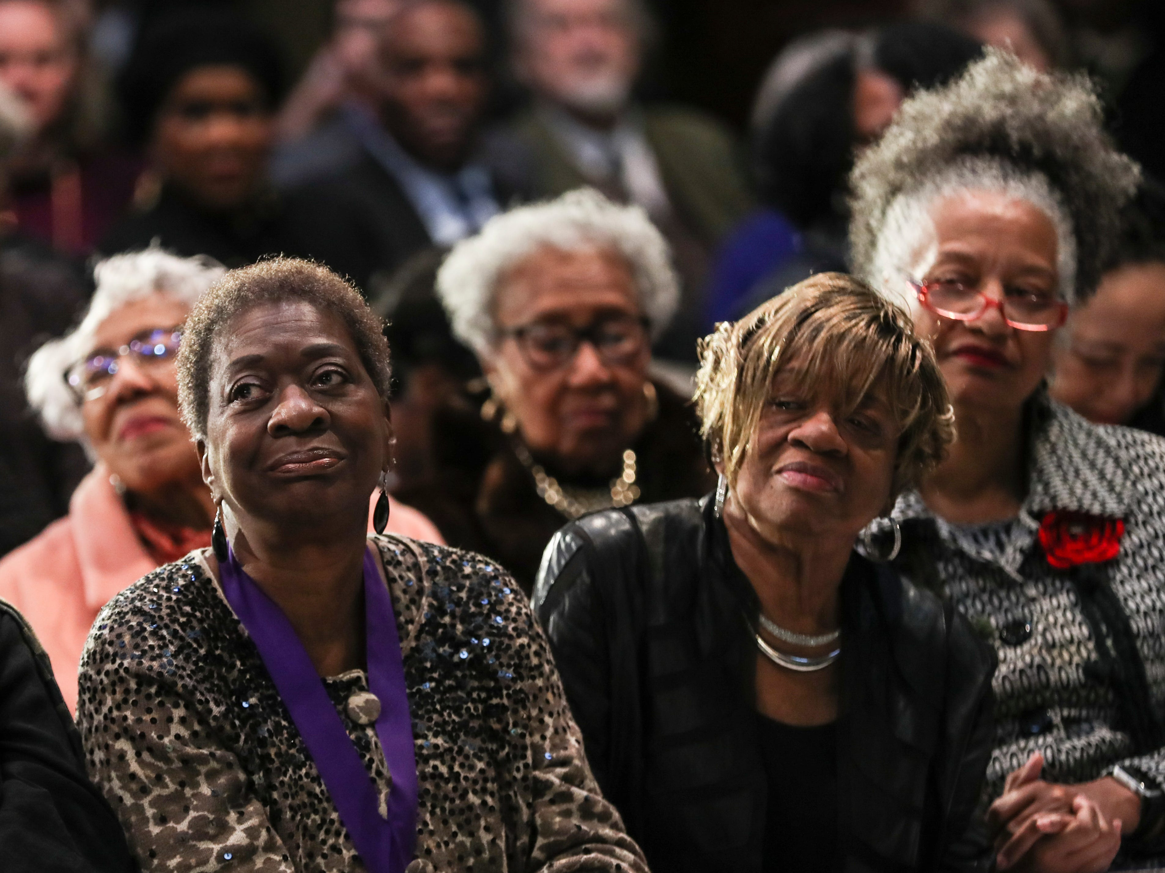 January 21 2019 - Norma J. Lester, left, is seen during the 2019 MLK Luminary Awards at the Hall of Mayors in City Hall.