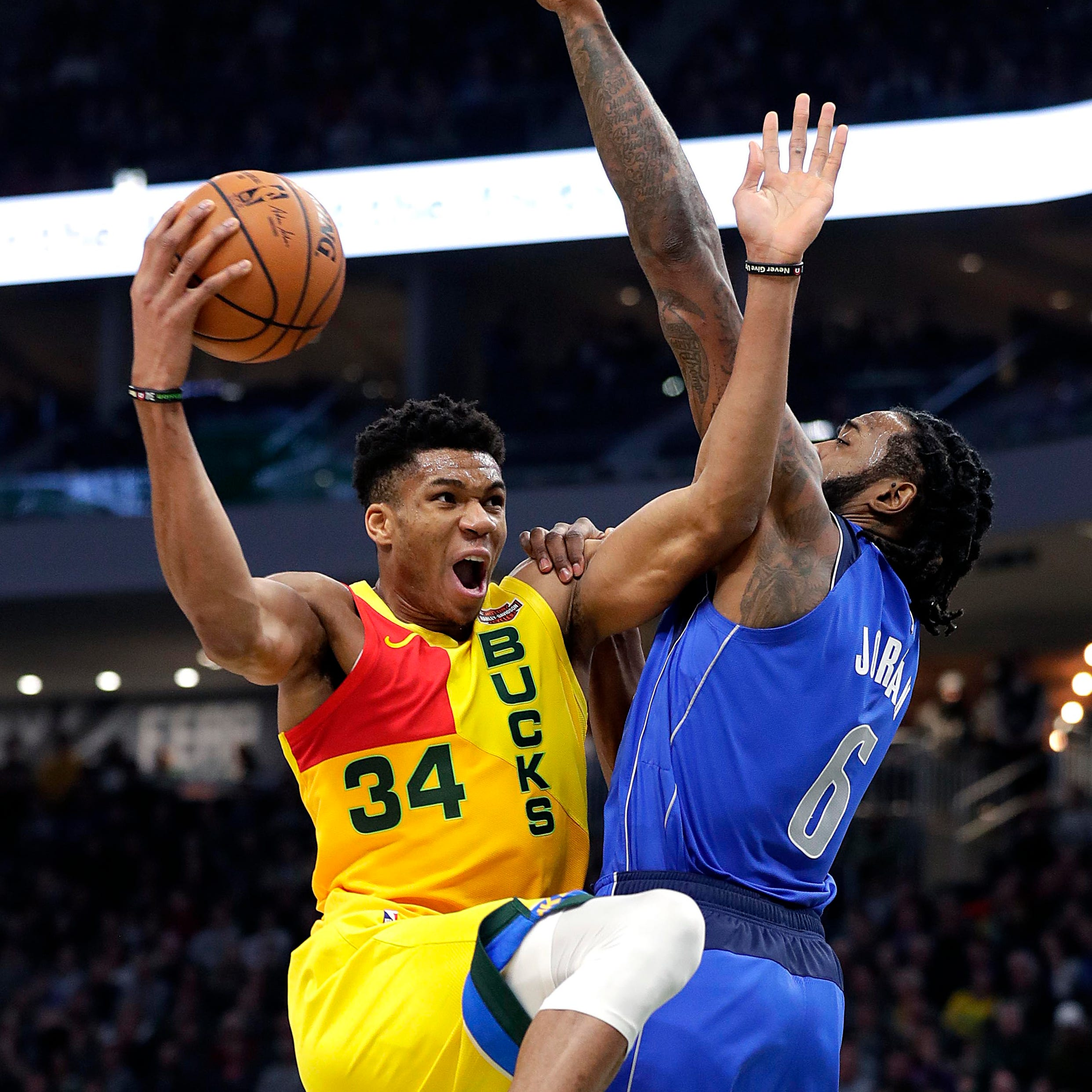 "Bucks 116, Mavericks 106: Giannis has 31 points and plenty of help ""class ="" more-section-stories-thumb"