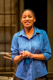 """Marti Gobel directs Next Act's production of """"Blood at the Root,"""" which will also tour to local public schools. Gobel is seen here in Next Act Theatre's production of """"No Child."""""""