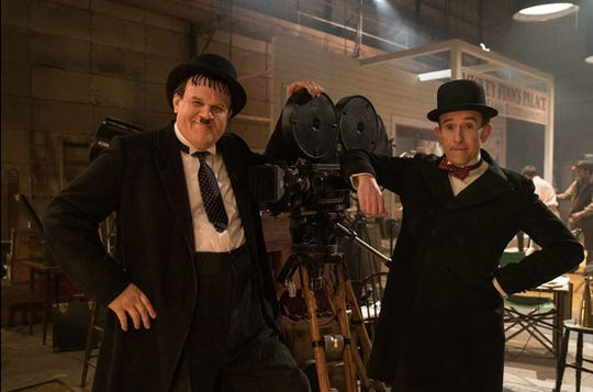 "John C. Reilly (left) and Steve Coogan (right) are comedy legends at a crossroads in ""Stan & Ollie."""