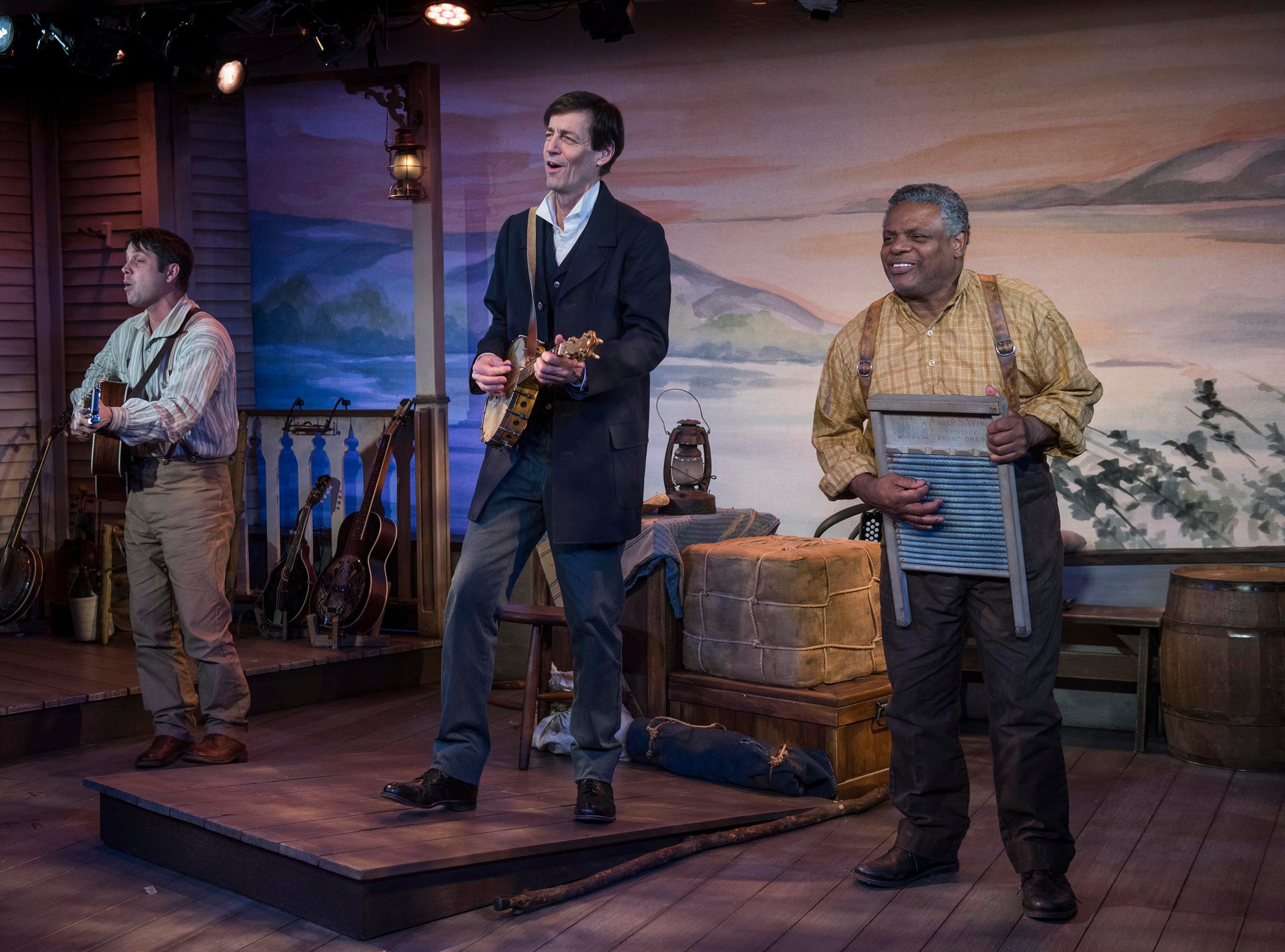 """Spiff Weigand (left), David Lutken and Harvy Blanks sing in """"Mark Twain's River of Song,"""" staged by Milwaukee Repertory Theater at the Stackner Cabaret."""