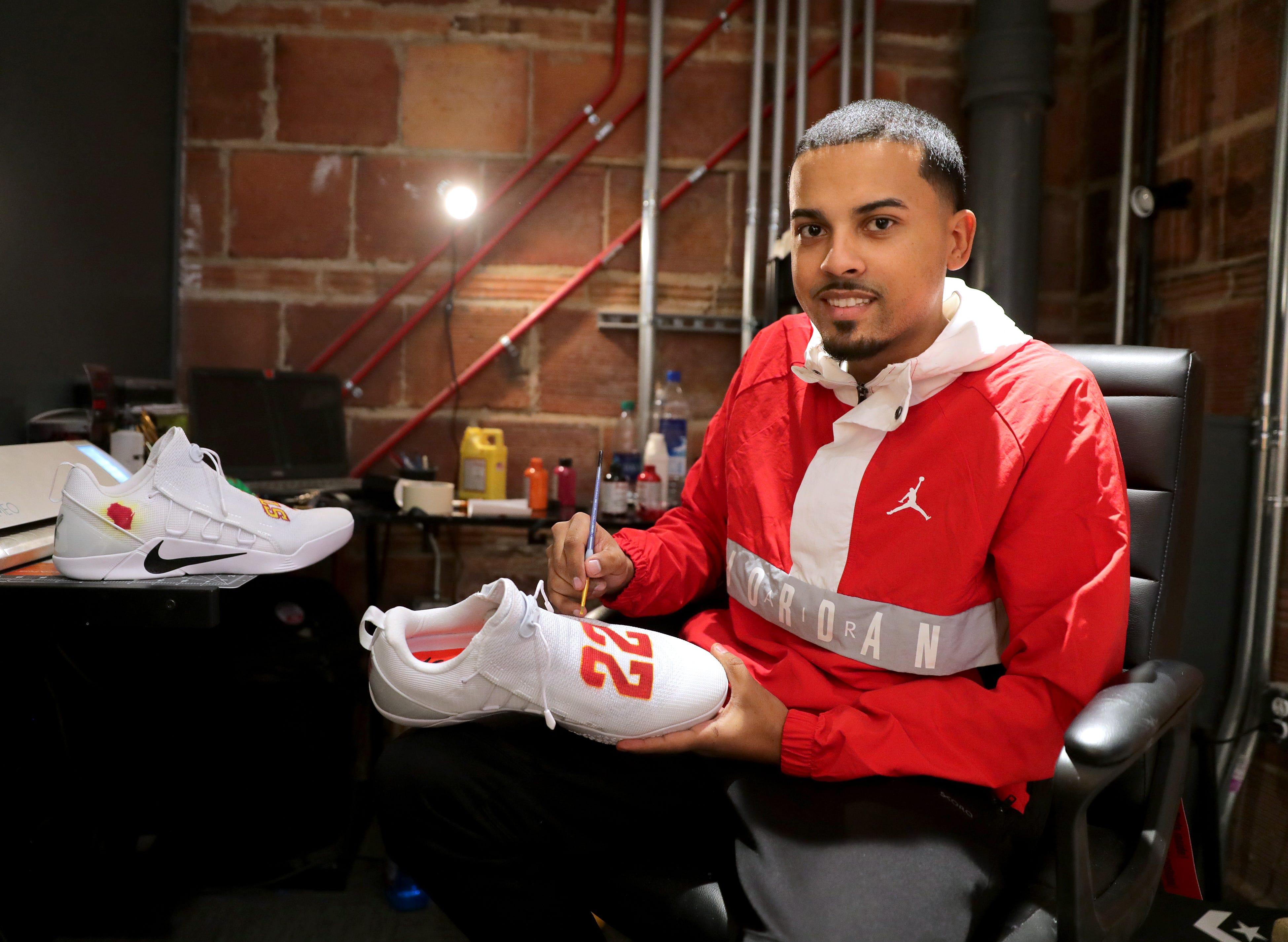 Milwaukee artist paints custom sneakers