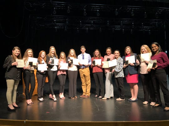 Top finishers from the Mountain Home High School FBLA Chapter are shown with their awards earned Friday at the District VI FBLA Spring Conference hosted by Arkansas State University-Mountain Home.