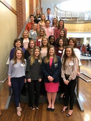 Students from the Mountain Home High School FBLA Chapter are shown Friday at the District VI FBLA Spring Conference hosted by Arkansas State University-Mountain Home.