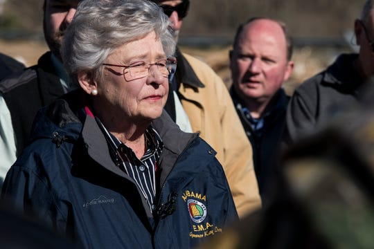 Gov. Kay Ivey, seen here on Jan. 21, 2019, is scheduled to unveil an infrastructure plan on Wednesday.