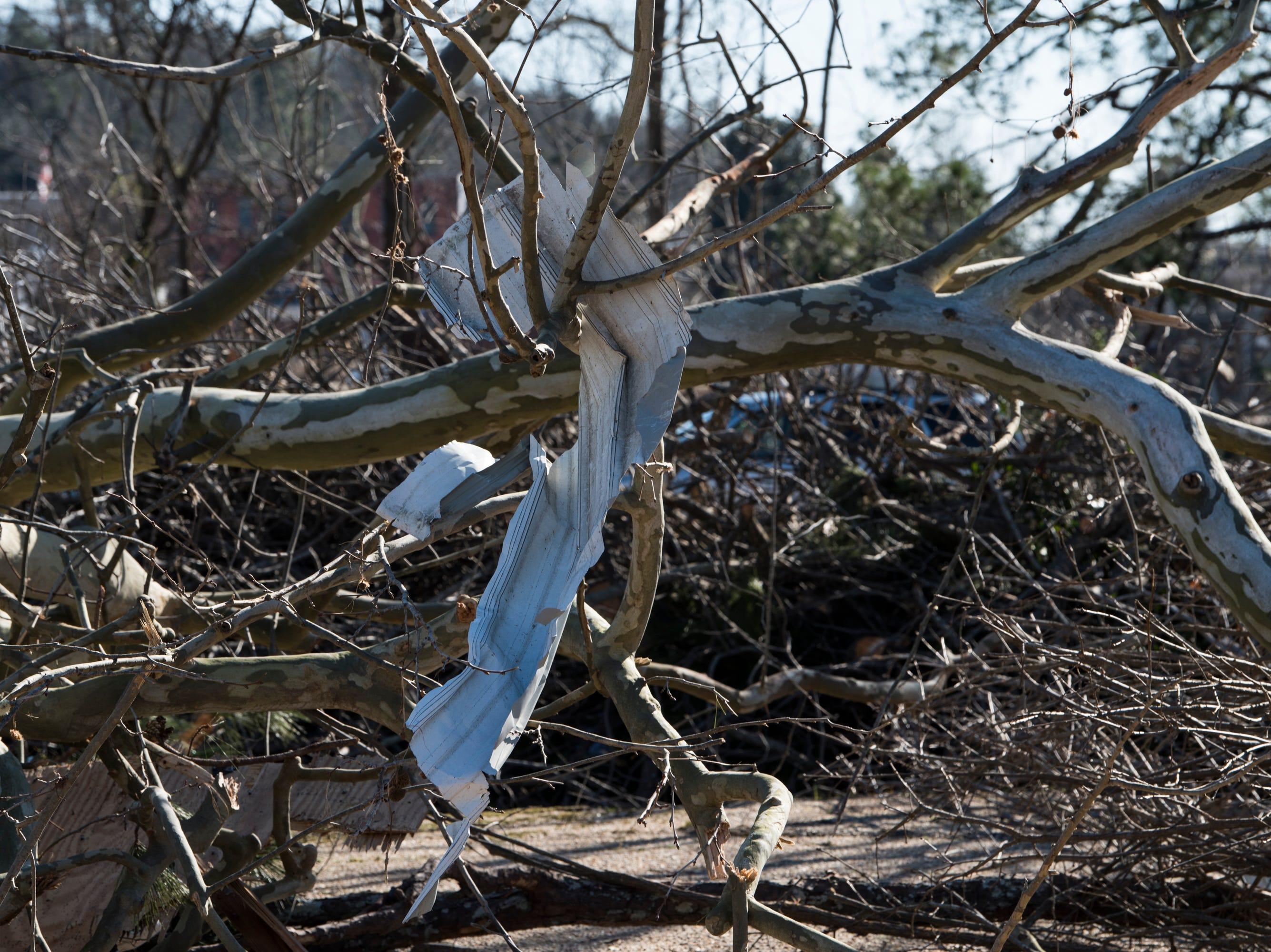 Tornado damage in Wetumpka, Ala., on Monday, Jan. 21, 2019.