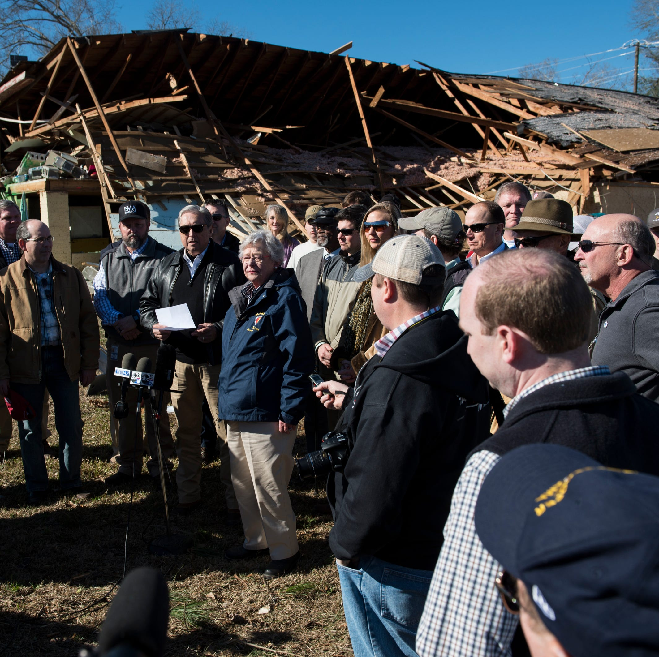 Ivey tours tornado ravaged areas of Wetumpka