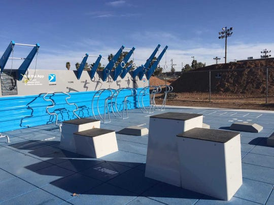 The Las Cruces Fitness Courts, at the Hadley Complex, east of Harty Fields, opens Jan. 30, 2019.