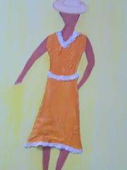 """Woman in Orange"""