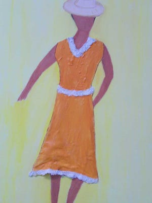 """Woman in Orange"""