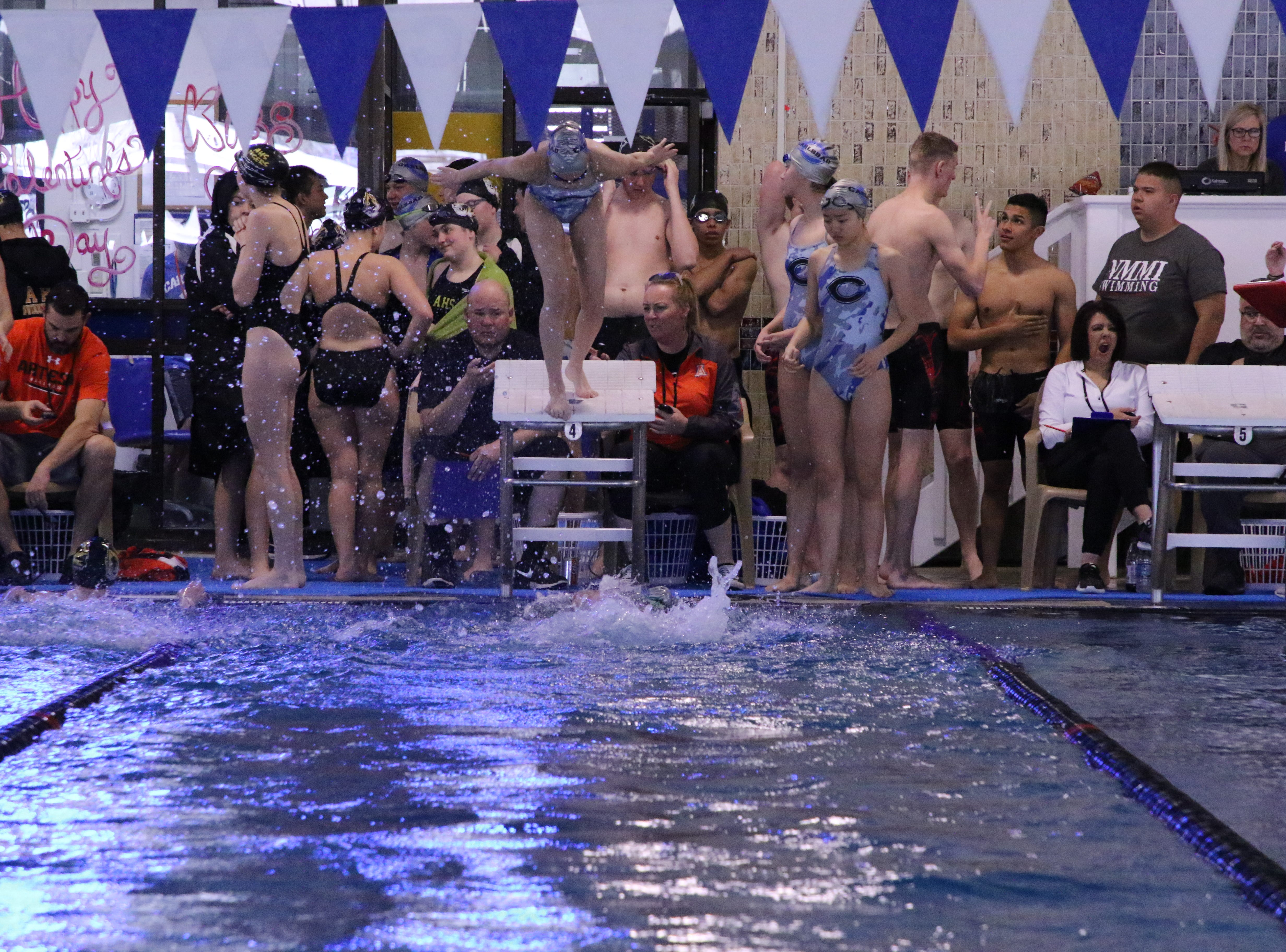 Photos of the Artesia Invitational Swim meet hosted by Carlsbad on Jan. 19, 2019.