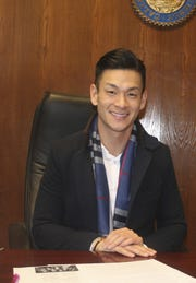 Assemblyman Evan Low at his office in January.