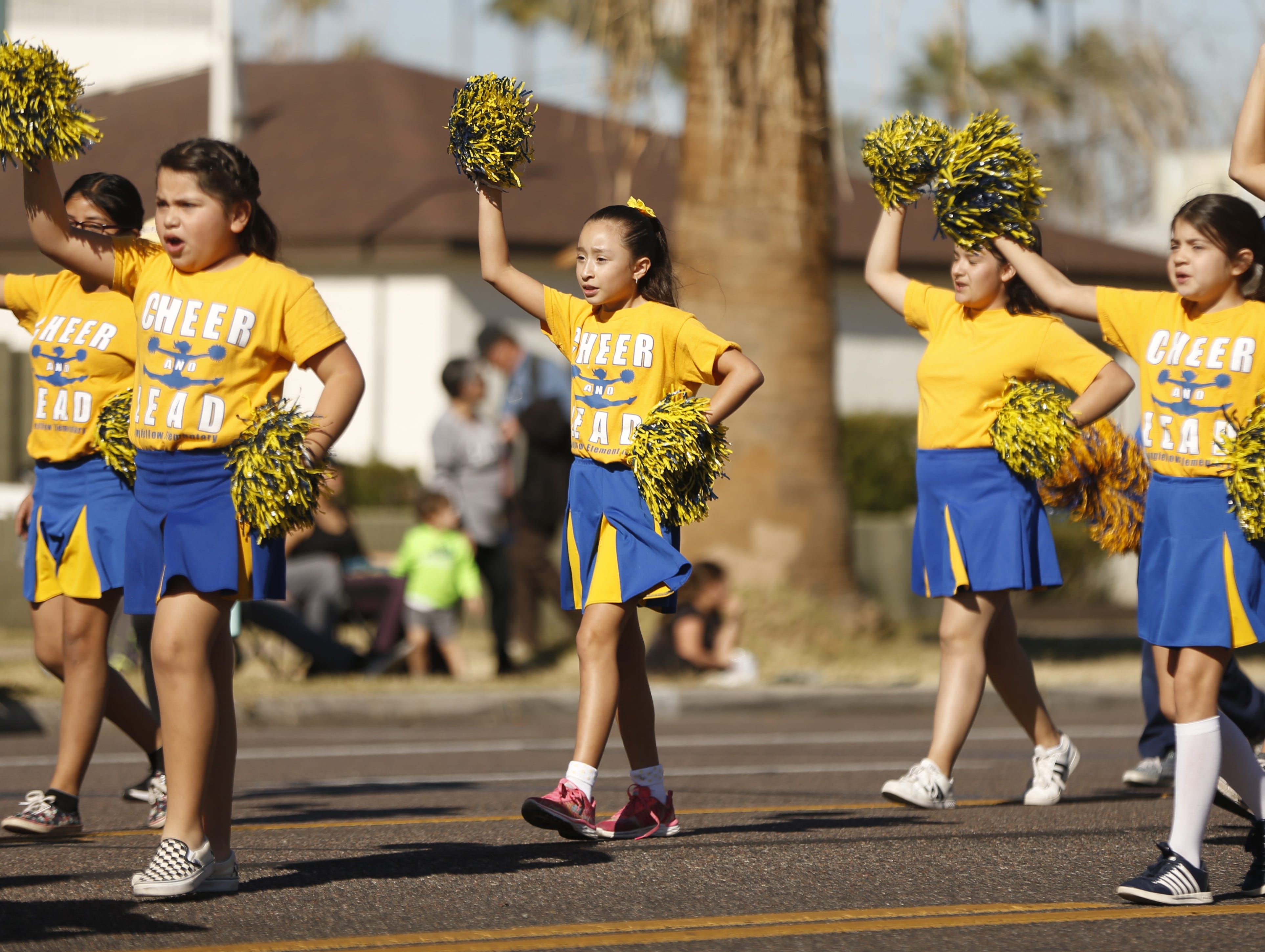 Longfellow Elementary dances down the parade route during the MLK Day Parade in Mesa, Ariz. on January 21, 2019.