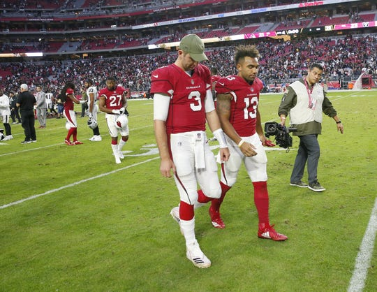 Arizona Cardinals quarterback Josh Rosen (3) and Arizona Cardinals wide receiver Christian Kirk (13) developed chemistry in the 2018 season.