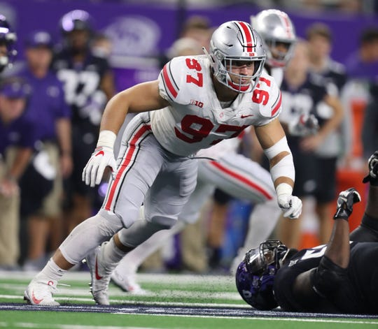 Would Ohio State Buckeyes defensive end Nick Bosa fit in perfectly with the Arizona Cardinals? Many NFL mock drafts think so.