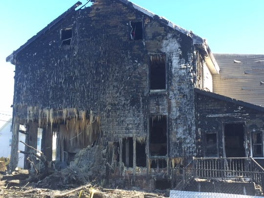 The occupants of this residence at 2240 West Cumberland St. were able to get out safely after a car crashed into the home and the car caught fire late Sunday, Jan. 20.