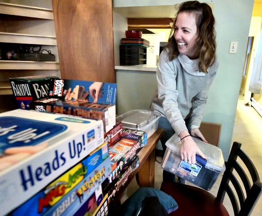 Rotary Club of York North member Laura Gurreri organizes a game room at Covenant House in York City as part of the Crispus Attucks 37th Annual MLK Day of Service on Martin Luther King Jr. Day Monday, Jan. 21, 2019. Bill Kalina photo