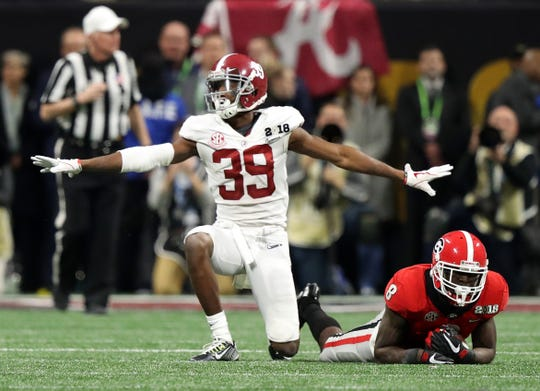 Levi Wallace, shown here in the 2018 national championship game, only became a starter for Alabama in his senior year.