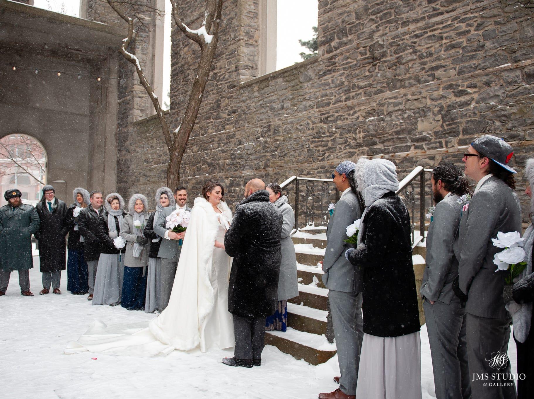 Darla and David Bragg got married in a snowstorm Saturday.
