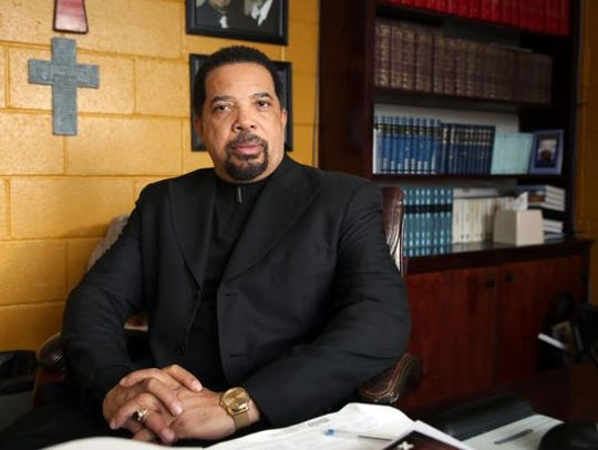 The Rev. Rickey Harvey of Mt. Olivet Baptist Church