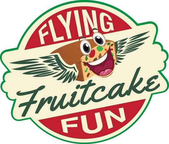 Logo the Flying Fruitcake Fun event in Vienna, Maryland on Jan. 27, 2019.