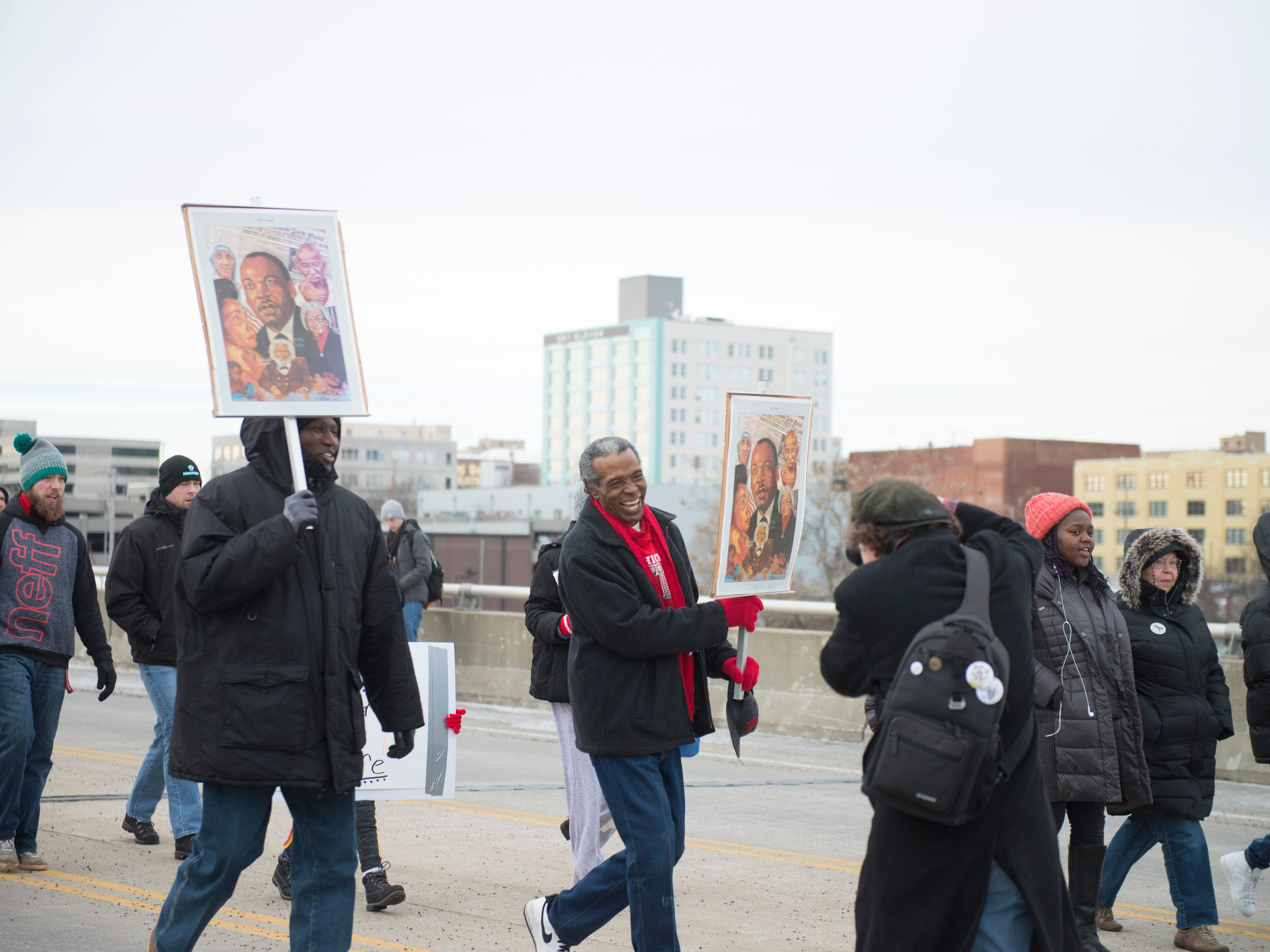 A scene from the Martin Luther King Jr. Day March 2019