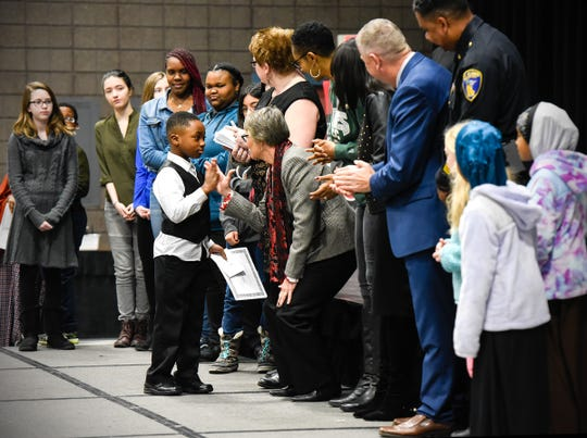 The Dexter R. Stanton Art and Essay awards are given out during the Dr. Martin Luther King Jr. Breakfast and Day of Service Monday, Jan. 21, at the River's Edge Convention Center.