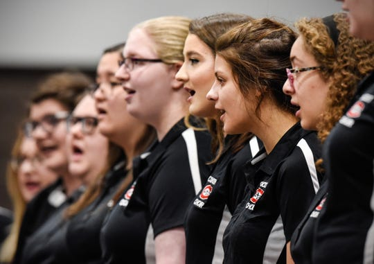 The St. Cloud State University Concert Choir sings during the Dr. Martin Luther King Jr. Breakfast and Day of Service Monday, Jan. 21, at the River's Edge Convention Center.