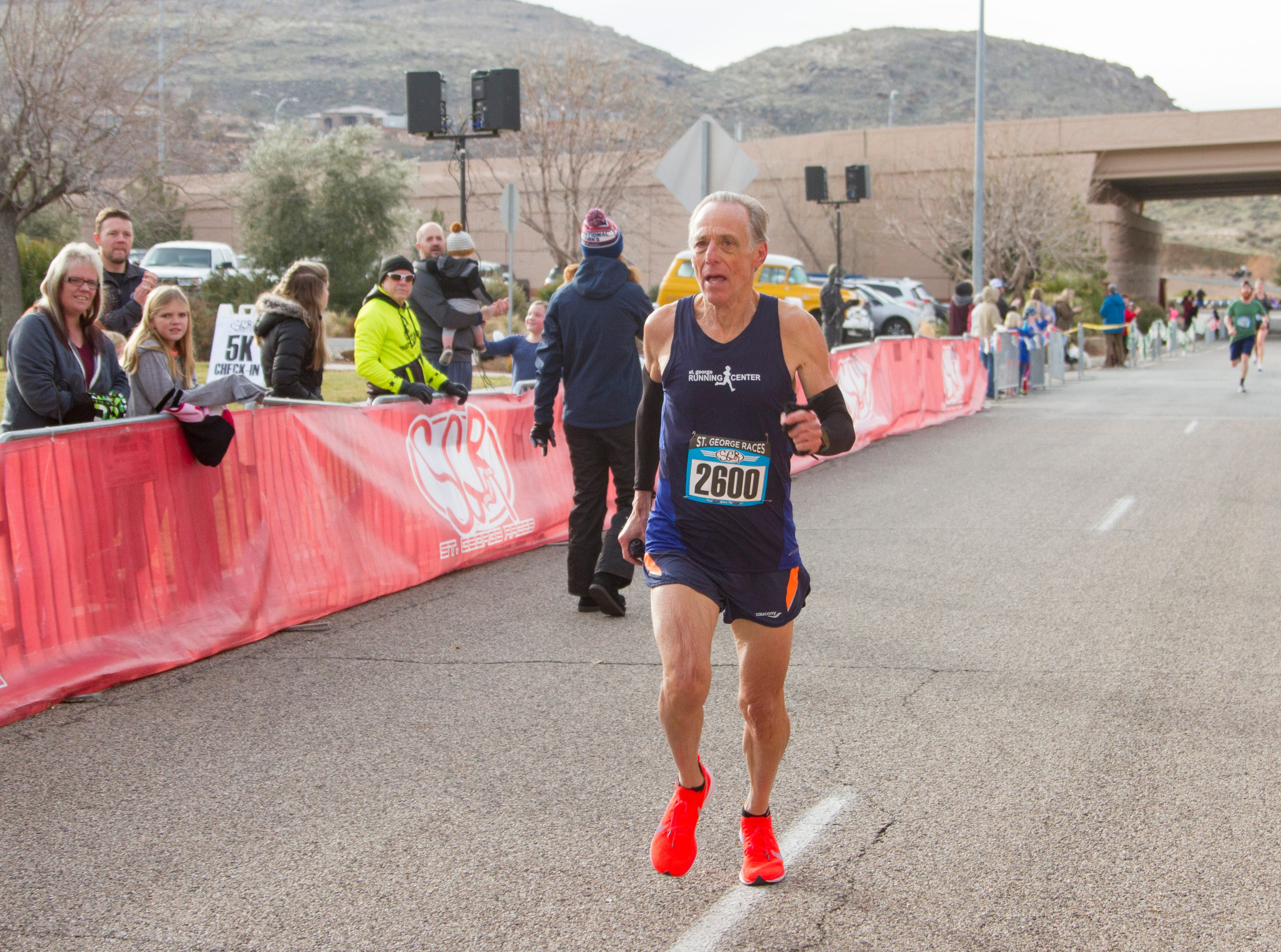 Runners compete in the St. George Half Marathon and 5K Saturday, Jan. 19, 2019.