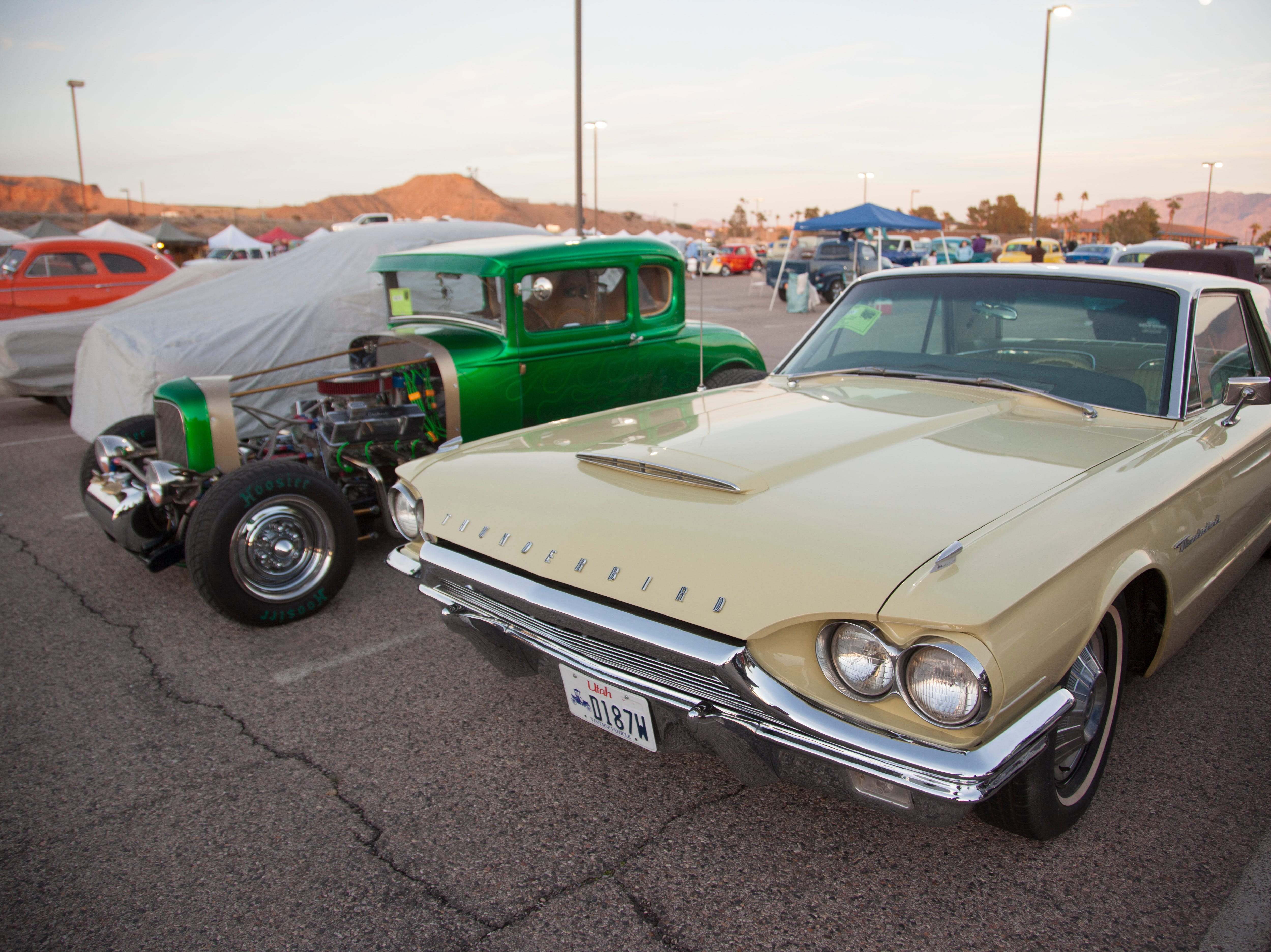 Car enthusiasts gather at the Casablanca for Mesquite Motor Mania Saturday, Jan. 19, 2019.