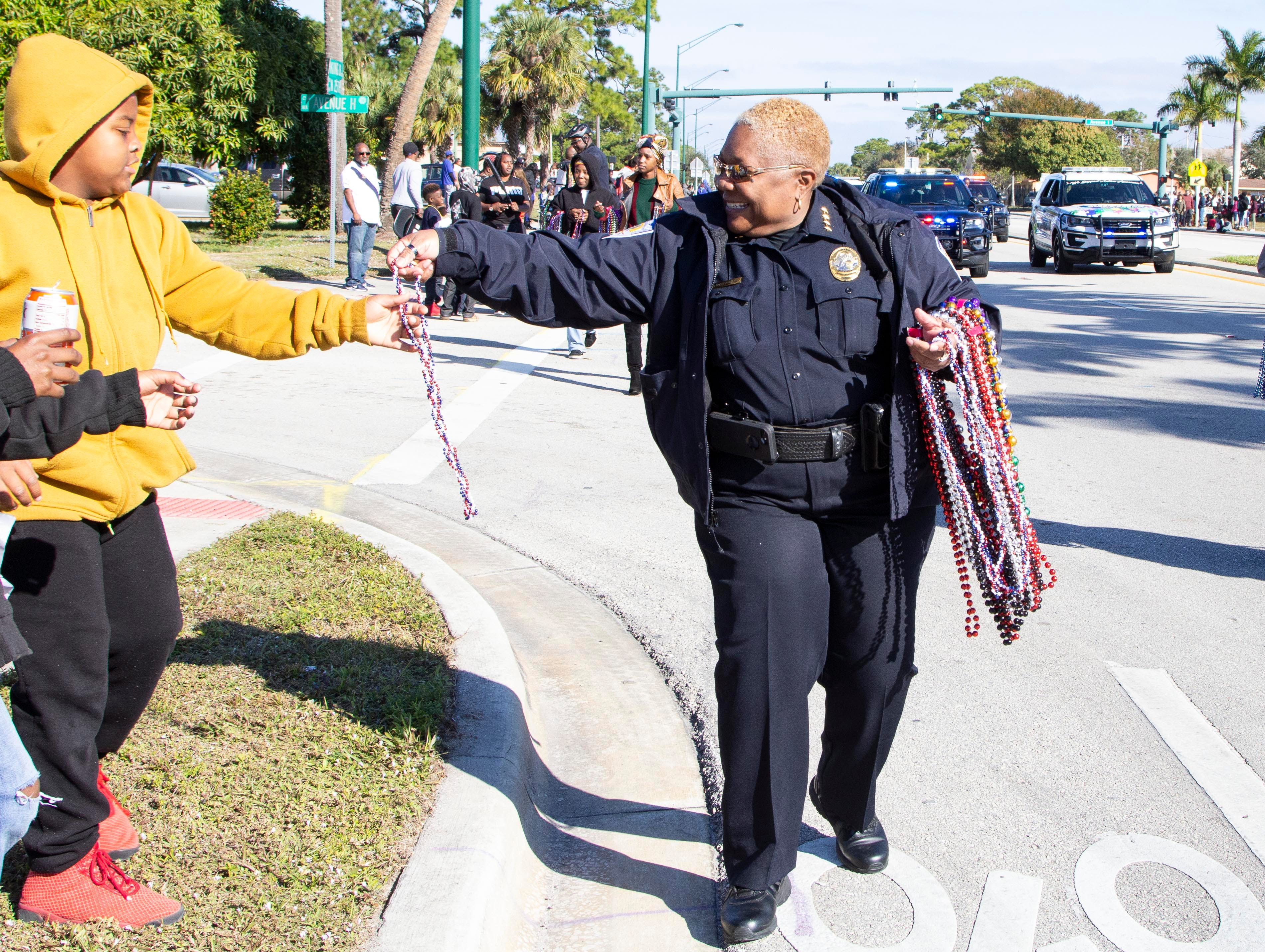 """The annual Dr. Martin Luther King Jr. Grand Parade was held on Monday, Jan. 21, 2019, in Fort Pierce, to honor King's legacy and celebrate his life. The parade began at Avenue I and Dr. Martin Luther King Blvd. and ended at Lawnwood Stadium. The theme of this year's parade was, """"A Legacy of Justice, Peace, and Equality."""""""