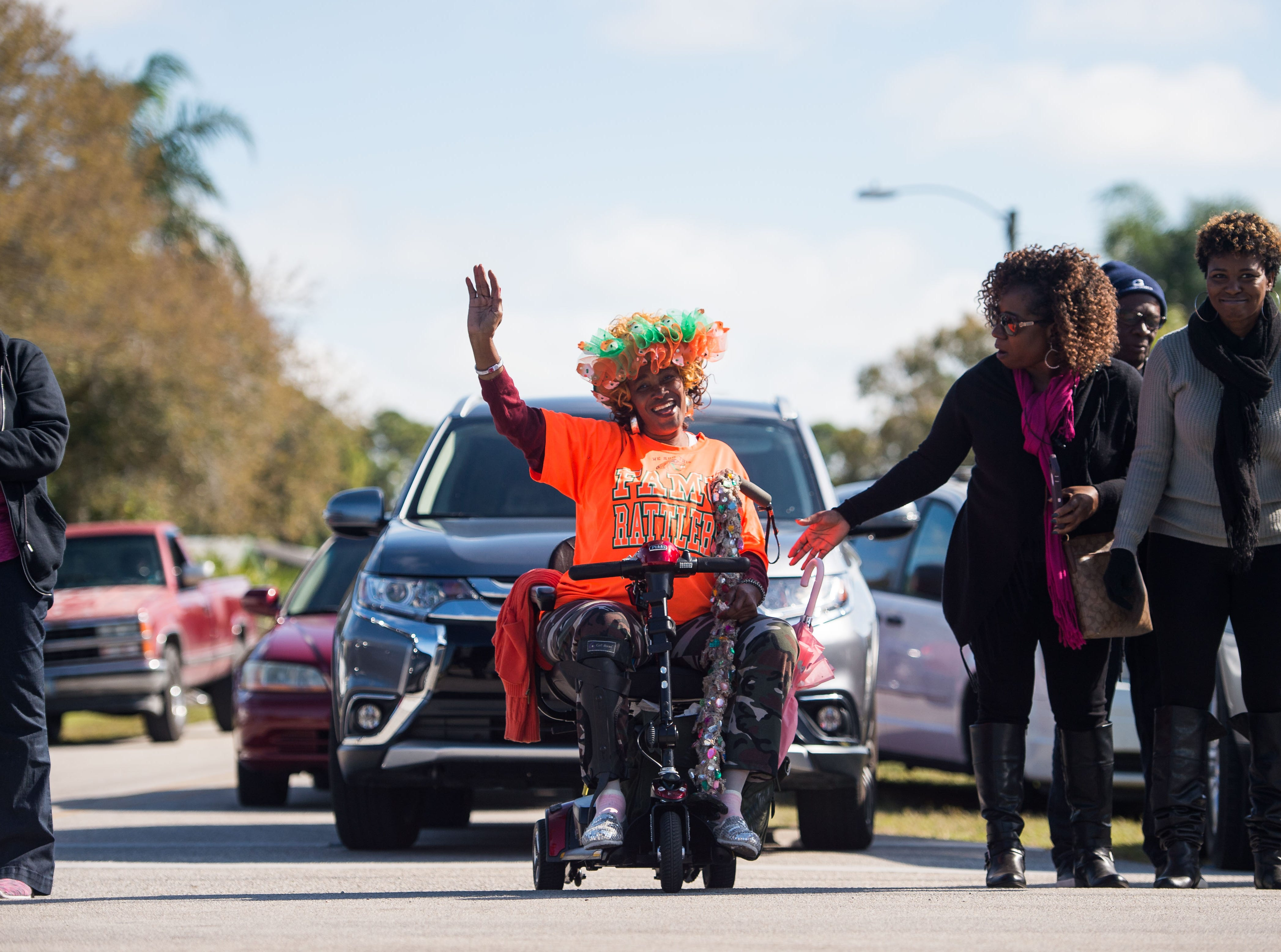 """Last year I was in a nursing home, I was sick,"" said Zeria Thomas, of Gifford, during the 2019 MLK Parade on Monday, Jan. 21, 2019, in Gifford. ""But thank God, I'm so glad to be back today, so I'm celebrating today,"" she added. ""Such a blessing, such a blessing."""