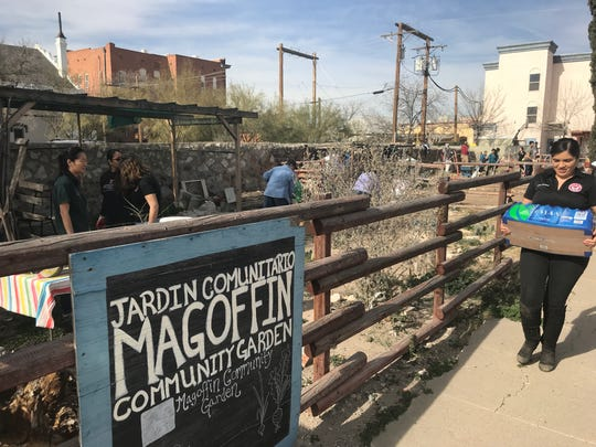 More than a dozen  Texas Tech University Health Sciences Center El Paso tackled the weed-ridden Magoffin Community Garden as part of Martin Luther King Jr. Day service projects. Other students participated in other service projects throughout the city.