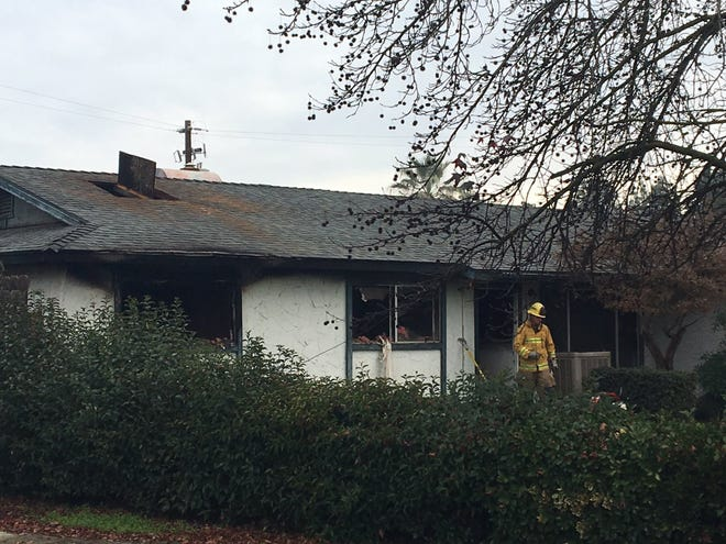 A house fire in southwest Visalia displaced a family of five.