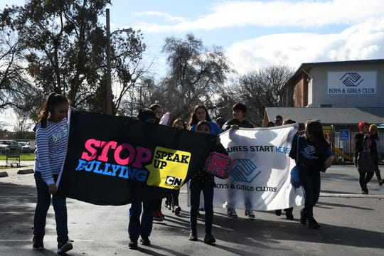 More than a hundred Tulare County youth took to the streets of downtown Visalia to celebrate Martin Luther King Jr.'s legacy.