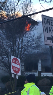A fire broke out in a house at the corner of Garden Avenue and E 5th Street in Mount Vernon on Jan. 21, 2019.